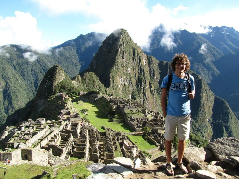 Keegan McBride, a 2013-14 fellow, visited Machu Picchu during his travels to Peru. Photo courtesy of Keegan McBride.