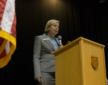 "2020 Candidate for NC Supreme Court, Lucy Inman, gave the keynote speech at the Orange County Democratic Convention Saturday, March 30, 2019 at Cedar Ridge High School.  ""They even changed the ballots to favor Republicans. This was not at the request of any judge I know.  This was a legislative agenda,"" said Inman when speaking on election tampering."