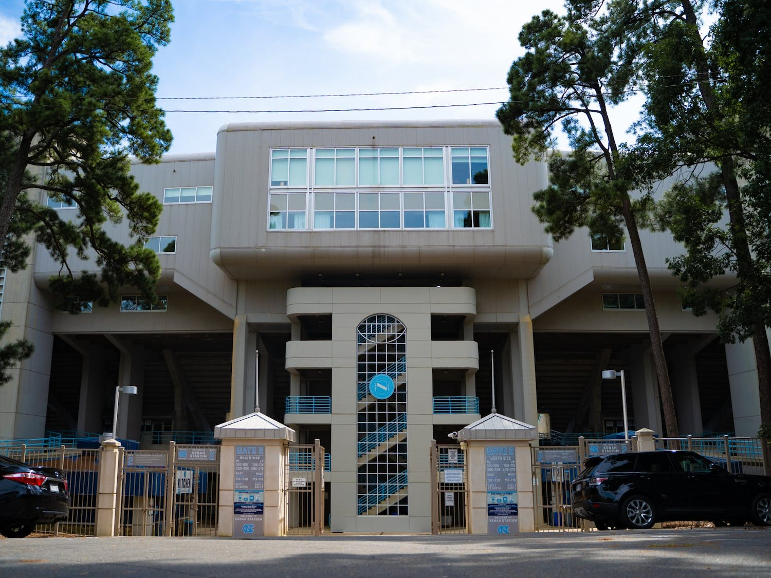 The gates to Kenan Football Stadium as pictured on Tuesday, Aug. 18, 2020.