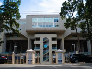 The gates to Kenan Football Stadium as pictured on Tuesday, Aug. 18, 2020.