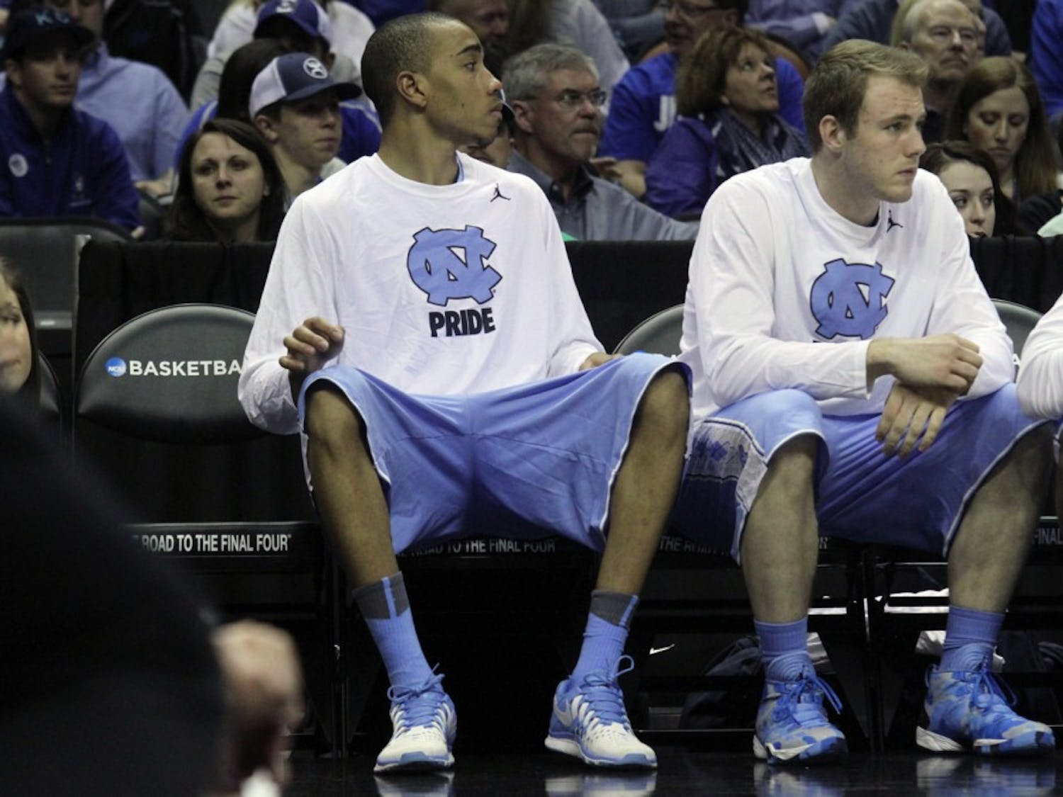 Brice Johnson watched most of the game from the bench after an injury sent him out of the game in the first half. The UNC men's basketball team lost to Iowa State 85-83 in the third round of the NCAA tournament.