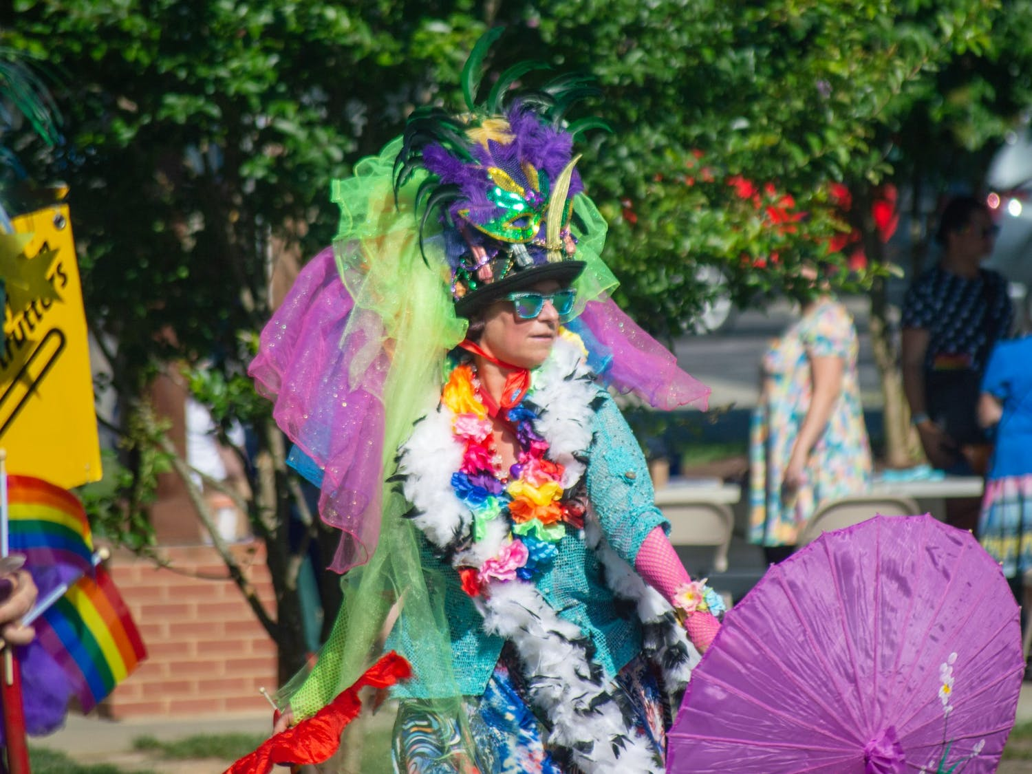 Community member Eliza DuBose dances at the Chapel Hill Carrboro Small Town Pride Food Truck Rodeo and Dance Party in Carrboro on Thursday June 24, 2021.