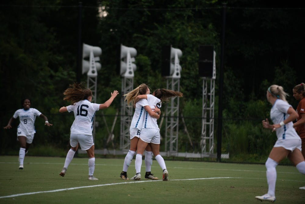 The No. 5 UNC women's soccer team wins third straight with 1-0 shutout of Clemson