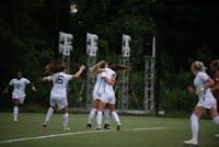 women's soccer celebrate
