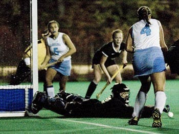 The Tar Heels' field hockey team was eliminated Friday night from the ACC Tournament, falling 2-1 against Wake Forest.
