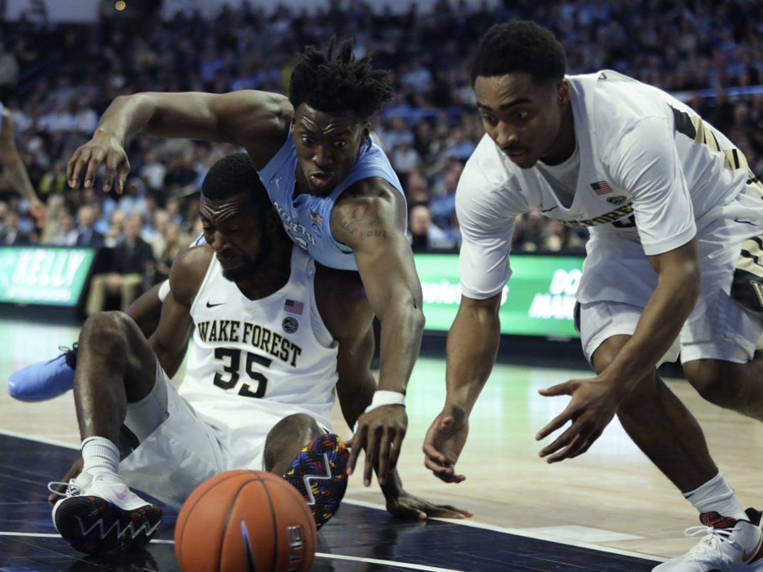 No. 8 UNC defeated Wake Forest 95-57 on Saturday, Feb. 16, 2019 at Lawrence Joel Veterans Memorial Coliseum.