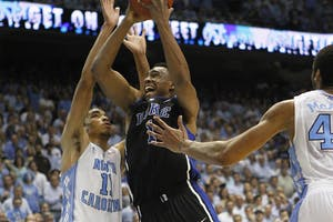 """Forward Brice Johnson will play in his fifth game against Duke tonight, which he calls""""an honor."""""""