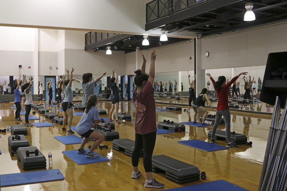 Campus recreation offers class specifically for faculty and staff