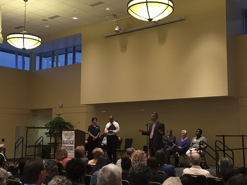 Hundreds gather at Justice United assembly to discuss affordable housing