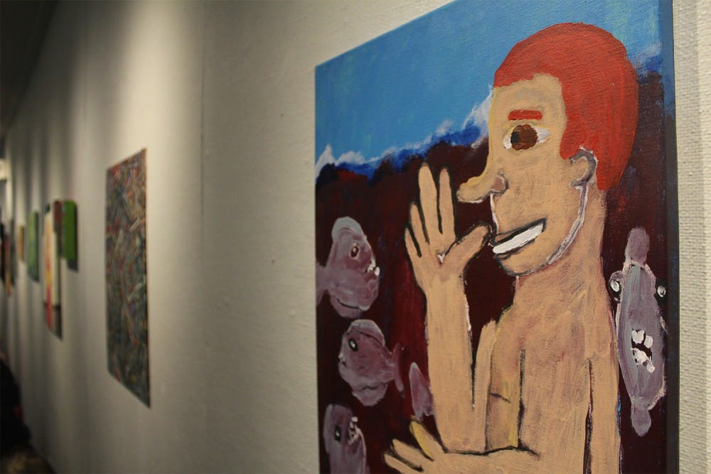 New exhibit in the Student Union of art created by the mentally ill