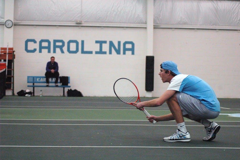UNC men's tennis sweeps Saturday matches