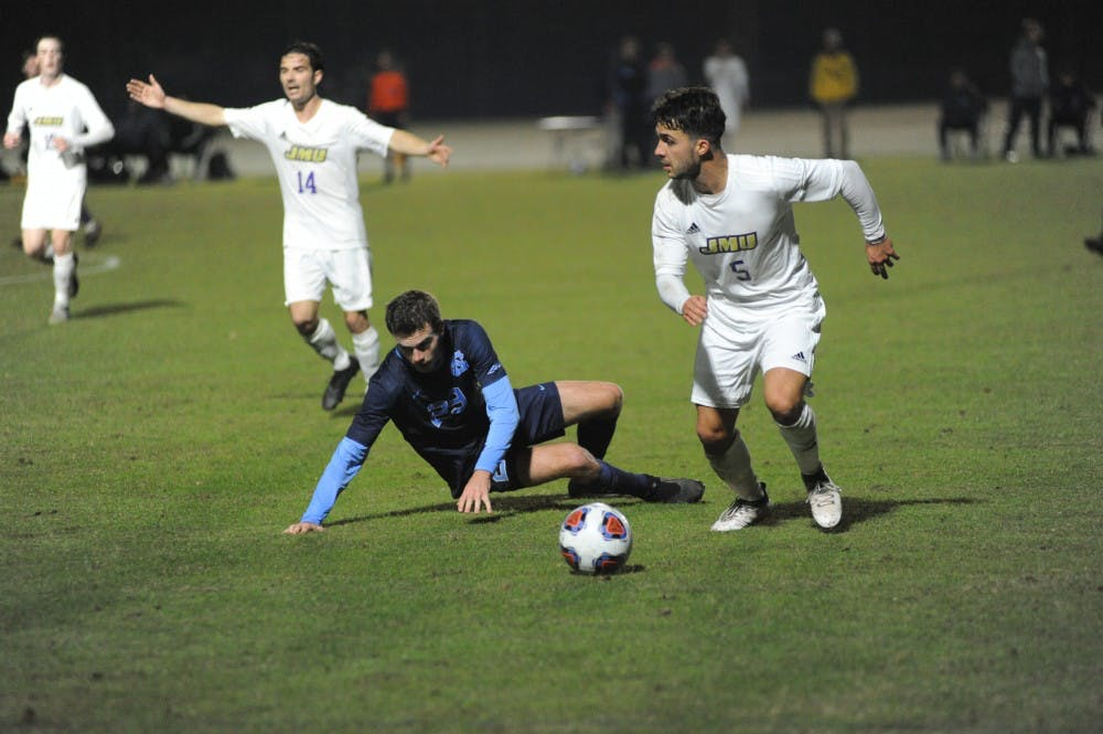 UNC men's soccer's season ends after 2-1 loss to James Madison in NCAA second round