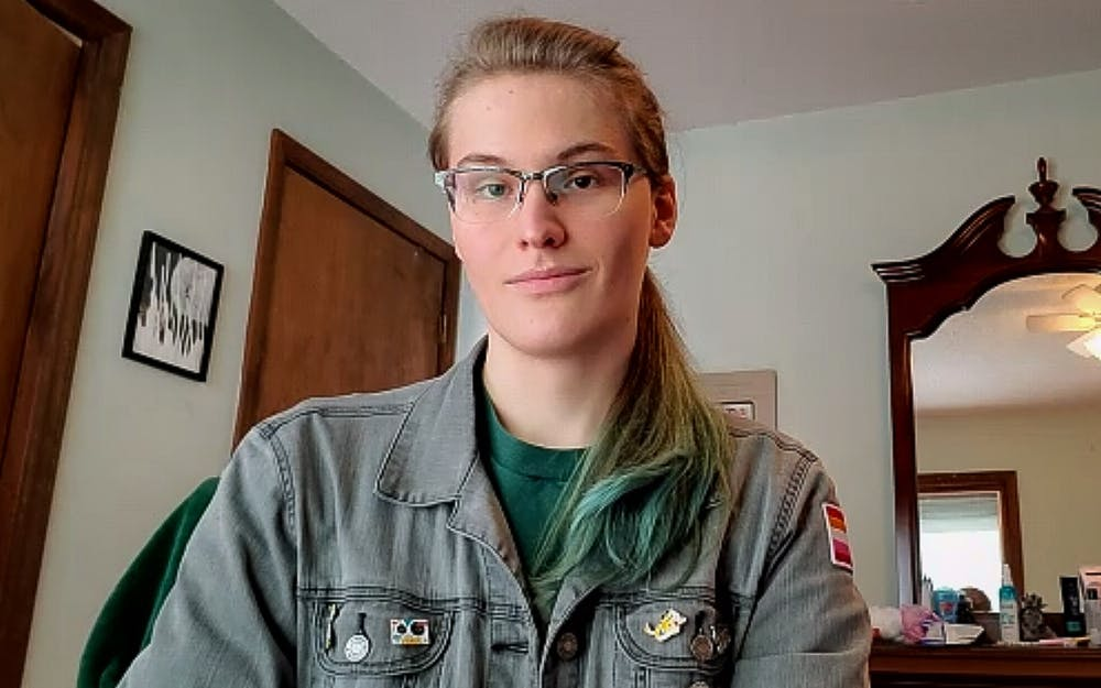 """UNC junior Grace Ingledue is a member of the trans community. """"The fact that students are now able to change their name in PowerSchool without going through that hellish process is so great,"""" said Ingledue."""