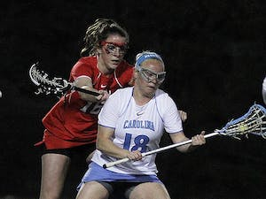 North Carolina attacker Abbey Friend makes a cut away from a defender earlier this season. She's UNC's second-leading scorer.