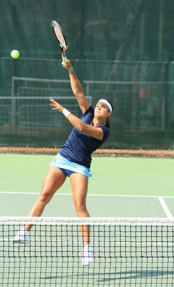 Wednesday's match between UNC Women's Tennis against N.C. State Wolfpack