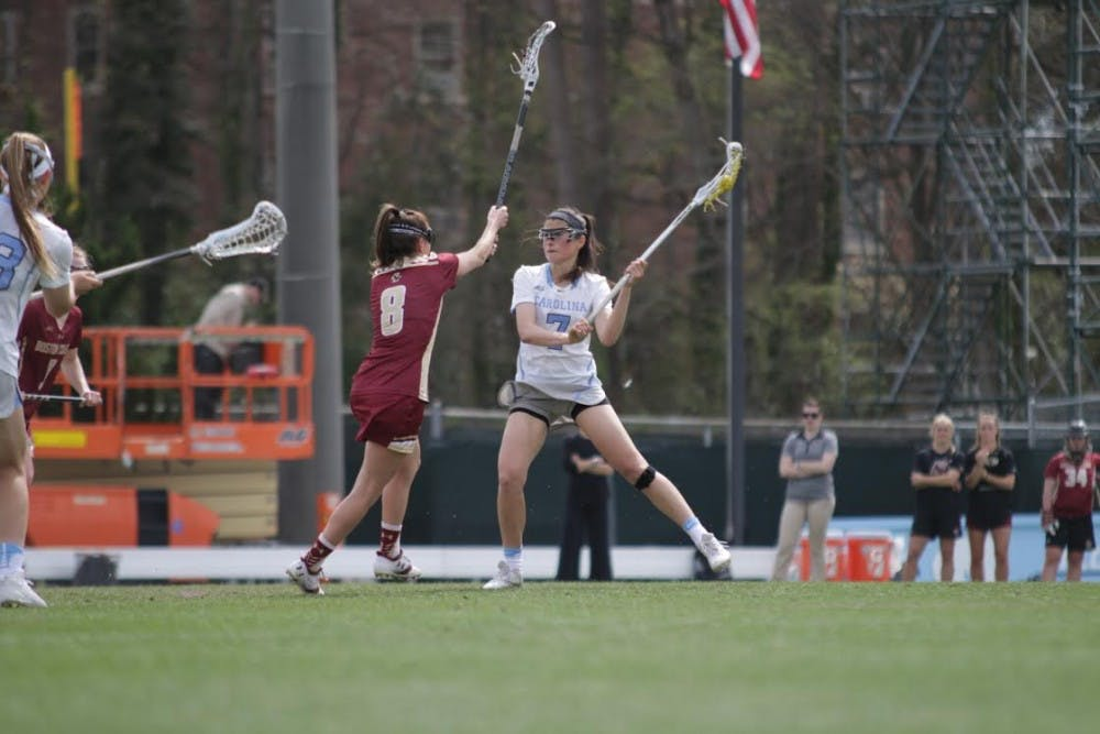 Marie McCool's seven goals lead UNC women's lacrosse to comeback win over Louisville