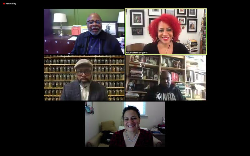 Screenshot of speakers at the virtually-held Ida B. Wells Symposia event.