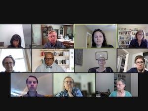 The Faculty Executive Council meets virtually on April 12, 2021.
