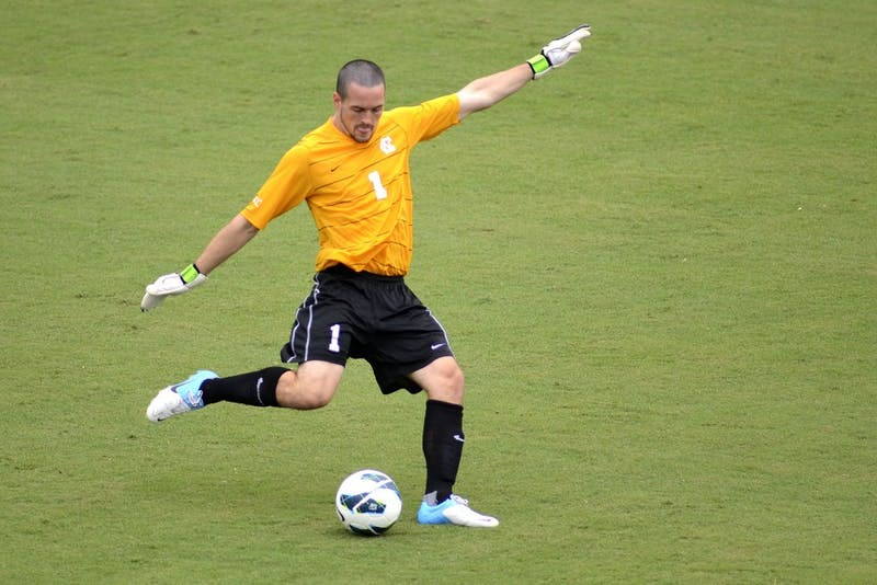 Former UNC  soccer goalie Scott Goodwin led the Carolina RailHawks to the quarterfinals of the 2014 Lamar Hunt U.S. Open Cup.