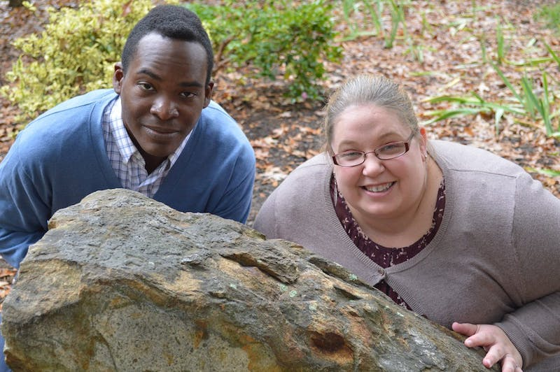 Joel and Melissa Hudley, professors in the UNC geology department, met when they were doing their masters at Birmingham University, and have been married for eleven years.
