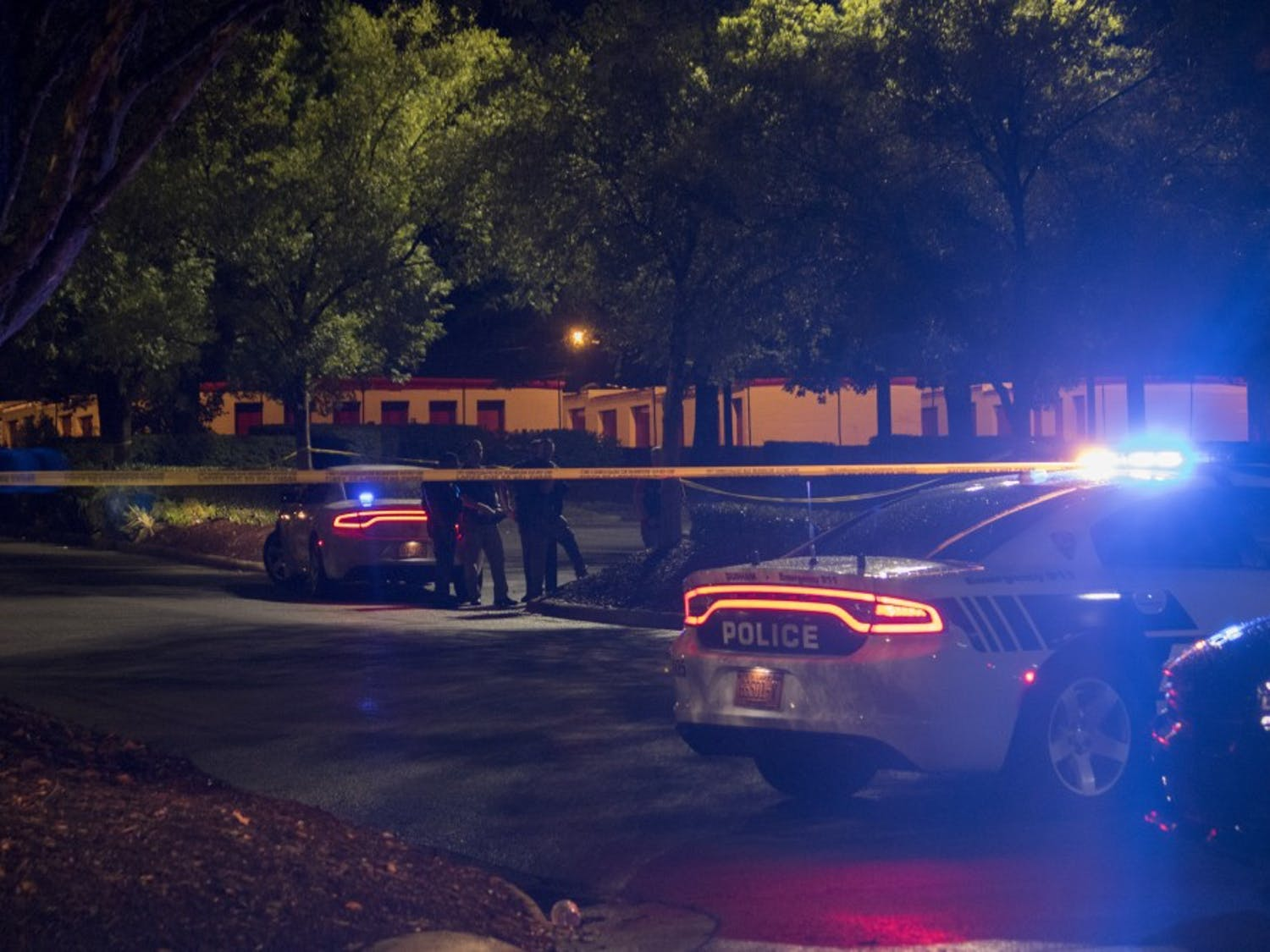 A man was shot shortly after 8 PM on Wednesday evening at the New Hope Commons shopping center. Durham Police Department officers were involved in the shooting.
