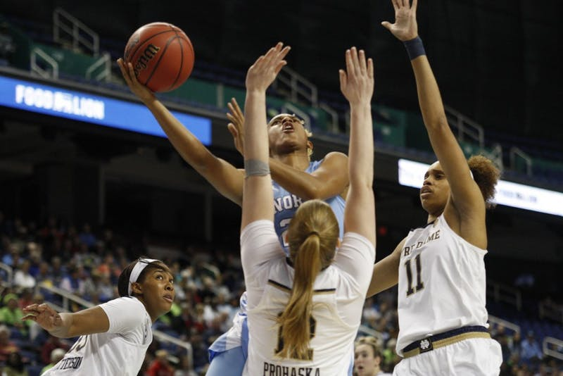 No. 8 UNC lost to No. 1 Notre Dame 95-77 in the second round of the ACC Tournament in Greensboro, N.C. on Friday, March 8, 2019.
