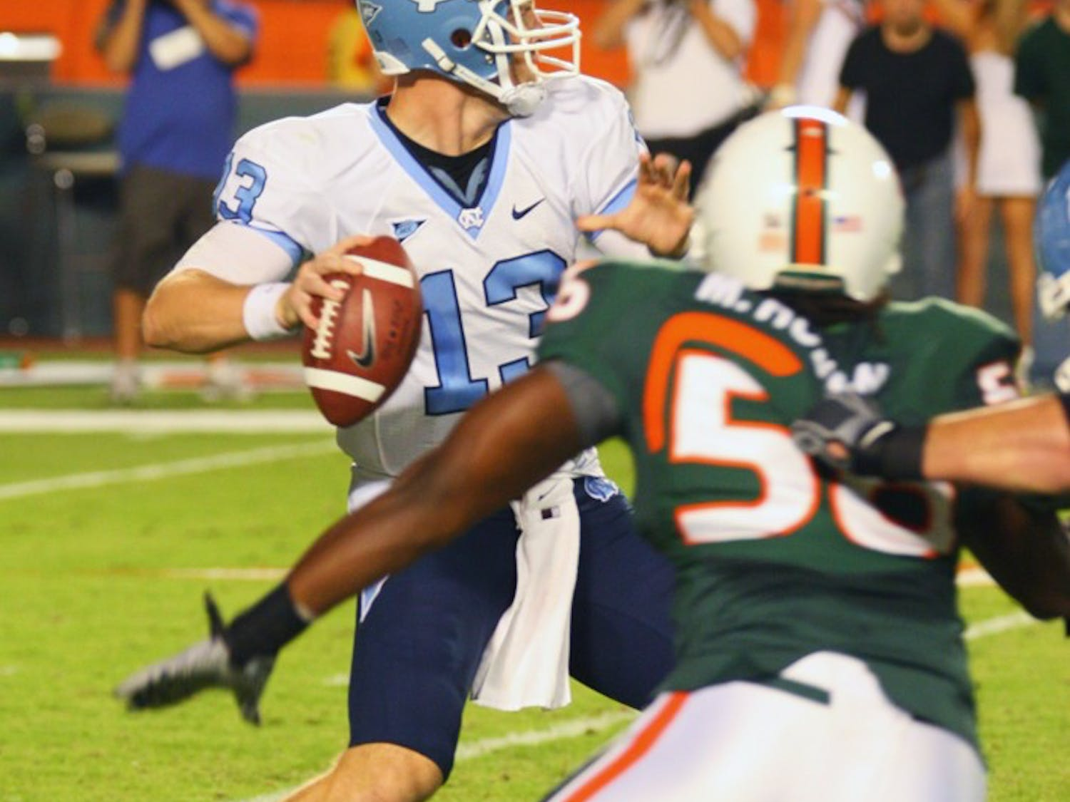 Quarterback T.J. Yates faced the No. 4 pass defense in the nation on offense.