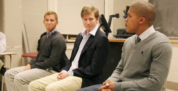 Will Leimenstoll-dark gray sweater