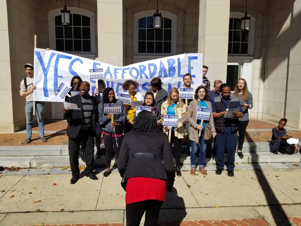 Activists gather to support Chapel Hill affordable housing bond