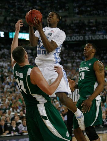 Forward Ed Davis had 11 points and eight rebounds against Michigan State in last year's NCAA title game. DTH File Photo