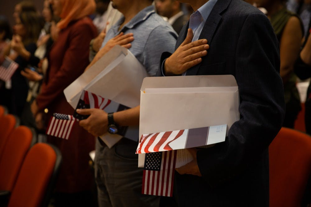 UNC Global hosts naturalization ceremony for nearly 60 people