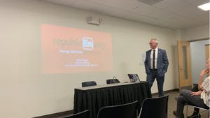 Former Congressman Bob Inglis came to UNC on Wednesday, Nov. 6, 2019 to talk about how conservatives can support climate change.