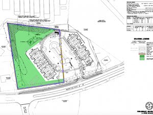 Layout of the affordable housing plans on South Merritt Mill Road. Photo courtesy of the Town of Carrboro.