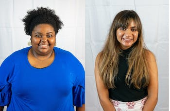 Brittany McGee (left) and Ramishah Maruf (right) are diversity officers at The Daily Tar Heel.