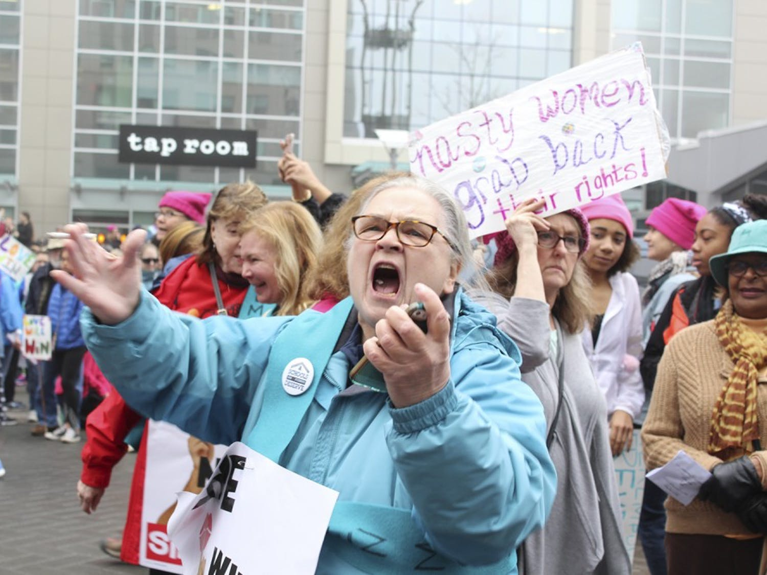 An estimated 17,000 people gathered in Raleigh on Saturday to participate in the Women's March. This is one of manysatellite marches taking place across the globe. The main protest took place in Washington, and other marches took place in major cities across the United States such asNew York, Chicago, Los Angeles, andHouston. Other marches occurredinternationally in places like the U.K., Mexico, Australia and Canada. A total of673 official marches took place across the world with an estimated 2,587,190 people participating.