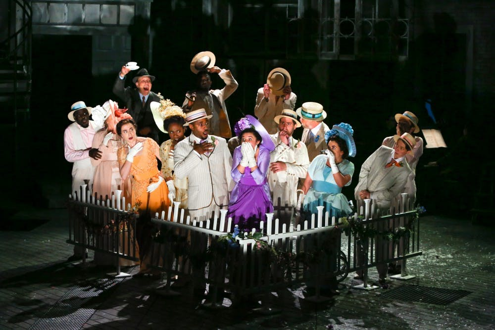 """<p>PlayMakers' Repertory Company in their production of """"My Fair Lady.""""&nbsp;</p><p>Photo taken by&nbsp;Ken Huth, courtesy of Rosalie Preston</p>"""
