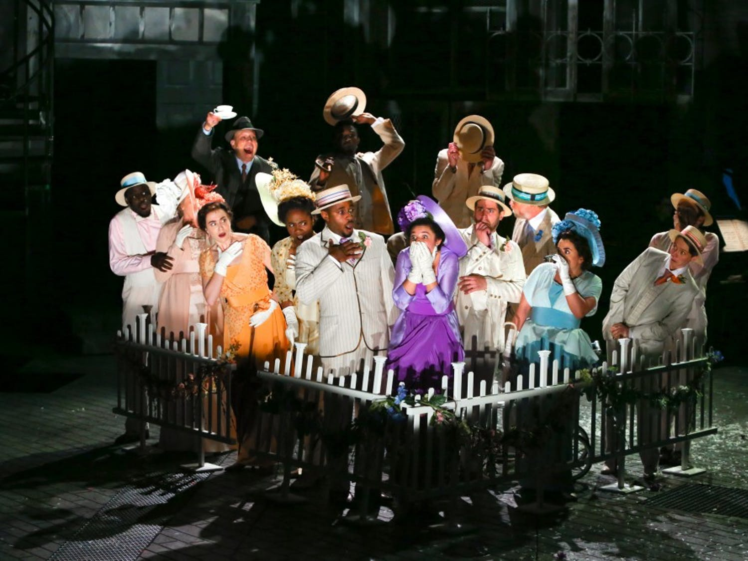 """PlayMakers' Repertory Company in their production of """"My Fair Lady.""""Photo taken byKen Huth, courtesy of Rosalie Preston"""