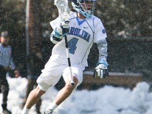 All-American attackman Billy Bitter grabbed two assists in North Carolina's 5-4 win against Bryant University. DTH/Phong Dinh