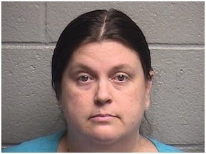 """Kristen Thompson, a teacher at Pathways Elementary School who was charged with threatening mass violence by the Orange County Sheriff's Office. Thompson reportedly threatened to """"shoot up the school"""" and was reported by her fellow coworkers."""
