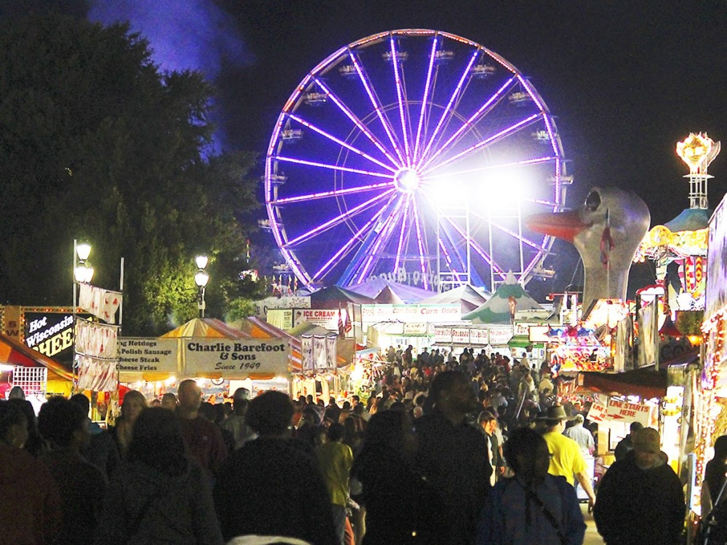 The N.C. State Fair, located on Blue Ridge Road, had an estimated attendance of around a million.
