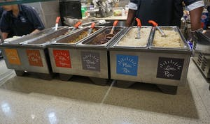 As part of a rebranding effort, Carolina Dining Services has added features such as a burrito bar and a wider selection of teas to Lenoir.