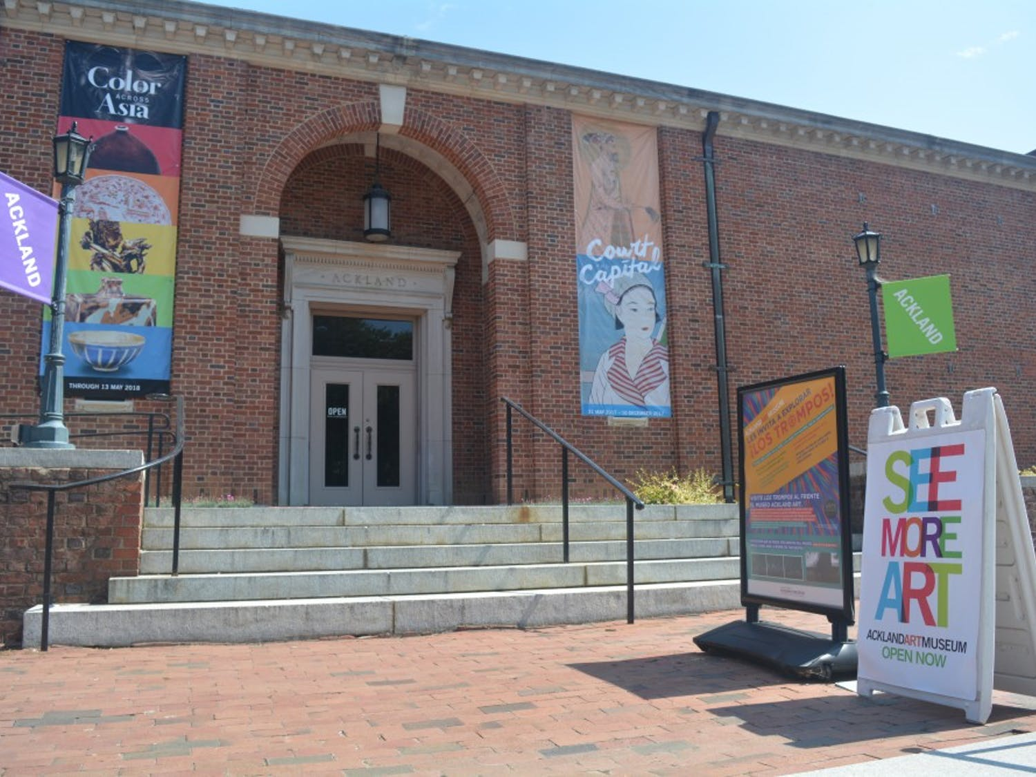 The Ackland Art Museum is a museum and academic unit of The University of North Carolina at Chapel Hill located on S Columbia Street. Photo courtesy of Molly Sprecher.