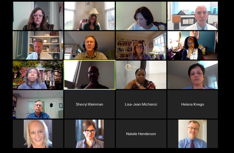 Screenshot from the UNC Advisory Committee meeting held virtually on Wednesday, Nov. 11, 2020.