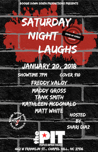 Boogie Down South Productions is hosting their first Saturday Night Laughs event at the PIT. Courtesy of Shari Diaz.