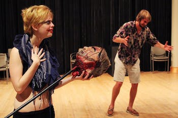 Photo: LAB! Theatre puts a techno spin on a Greek tragedy (Kathryn Muller)