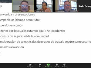 Chapel Hill's Re-imagining Community Task Force hosted a Spanish-language listening session for community members via Zoom on March. 16, 2021. The Task Force aims to improve public safety and equity by drawing upon community perspectives.
