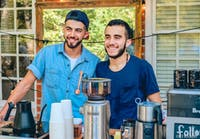 Photo by Ahmed El Khatib. Photo courtesy of Apt. N Coffee. Omar Rezk (Left) and Ibrahim Darhmaoui (Right).