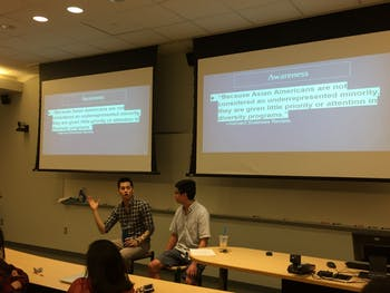 Tai Huynh, a UNC senior and town council candidate, held a Q&A on Wednesday.