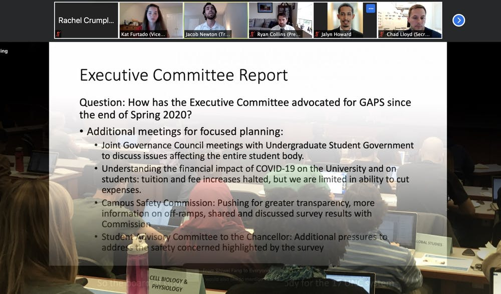 GPSF Senate adopts resolutions supporting grad and international students, UNC staff