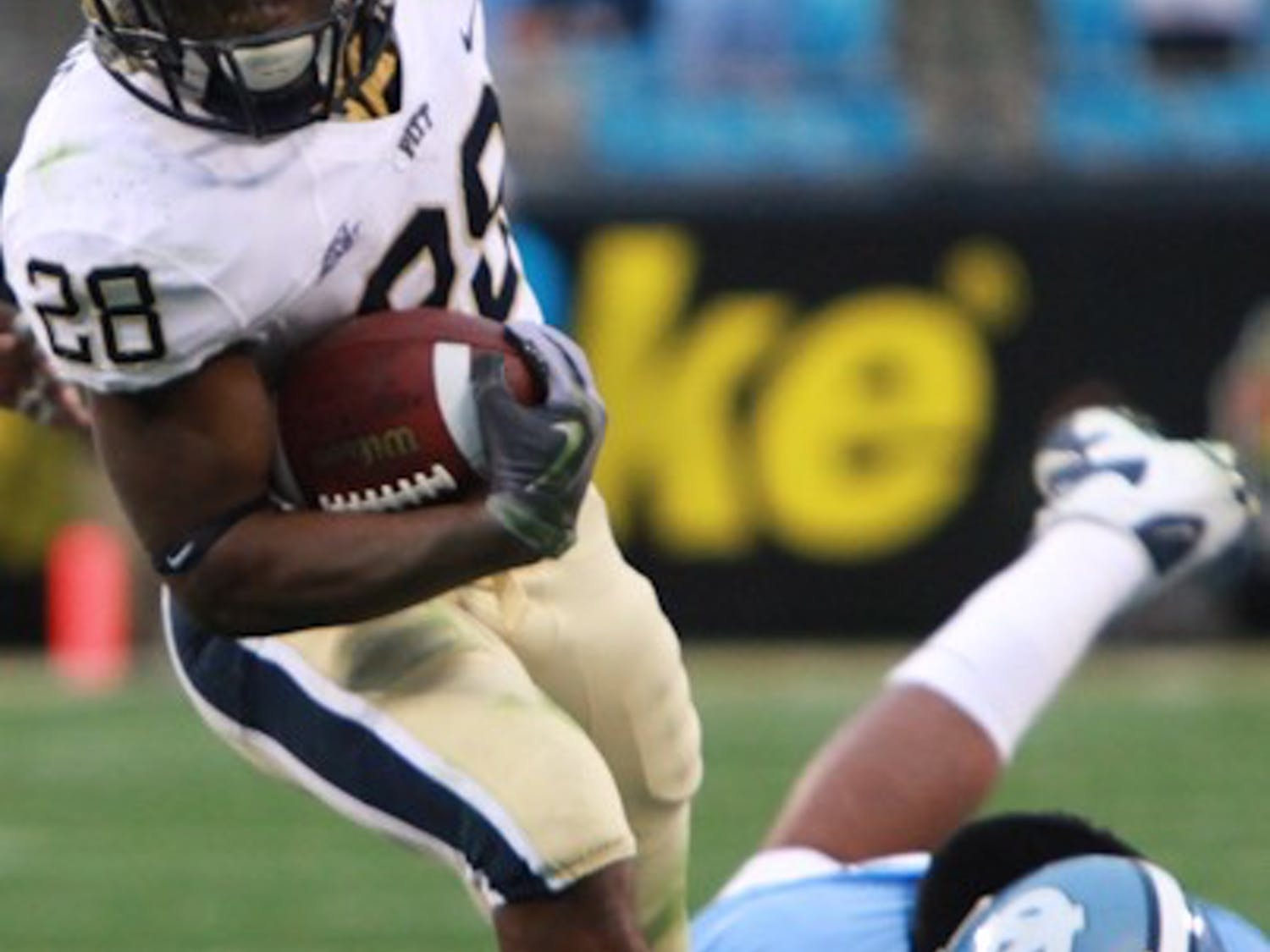 The Tar Heels had trouble catching Pathers freshman running back Dion Lewis, who ran for 159 yards.  DTH/Phong Dinh